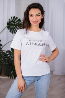 Белая футболка с вырезом на спине Шарлиз
