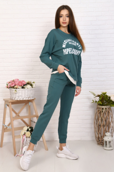 Женский повседневный костюм зеленого цвета Натали