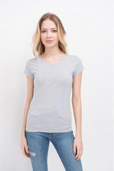 Однотонная футболка из хлопка Marimay