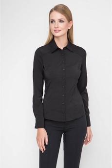 Черная классическая блузка Marimay со скидкой