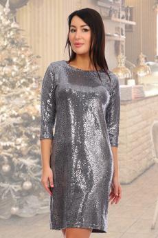 Серебристое платье Натали